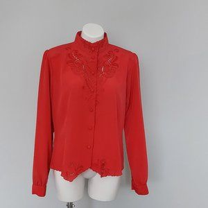 Vintage Christie & Jill Embroidered Blouse